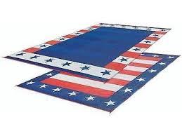 Outdoor Rv Rugs Rv Patio Mat American Flag Awning Mat Usa Cing Mat Trailer