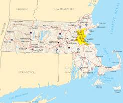 United States Political Map by Massachusetts Map Blank Political Massachusetts Map With Cities
