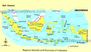 bali indonesia map map of regions and provinces of indonesia planetware