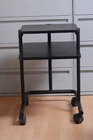 anthro computer office desk mobile cart black table workstation