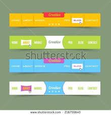 website menu design vector header horizontal web menu design stock vector 216759640