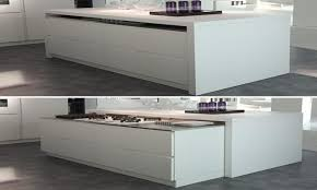 kitchen island trash bin space saving cabinets kitchen island with hidden table kitchen