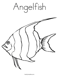 angelfish coloring twisty noodle