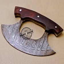 damascus ulu kitchen knife custom handmade kitchen damascus ulu