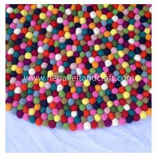 Multicolored Rug 15 Colors Multi Colored Felt Ball Rug For Sale