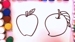 apple coloring page how to draw apple and mango fruits coloring book for kids how to