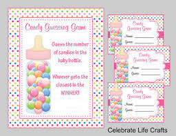 baby shower guessing baby shower candy bottle guessing sign and tags baby