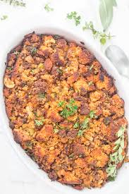 Southern Stuffing Recipes For Thanksgiving Easy Chorizo Cornbread Dressing Stuffing Gal On A Mission