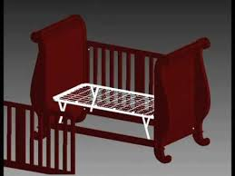 Jardine Convertible Crib Bratt Decor Assembly Chelsea Sleigh Crib