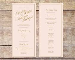 Church Programs For Wedding 100 Programs For Weddings Templates Rustic Wedding Menu