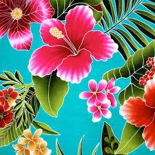 Hawaiian Flowers And Plants - beautiful bright vibrant hawaiian flowers make this fabric a