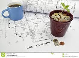 Financiering De Financiering Van Het De Bouwproject Van Het Droomhuis Stock