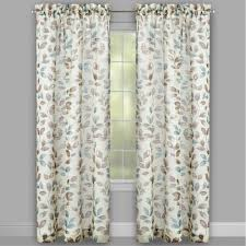 63 u201d leaf pattern textured window curtains set 2 christmas