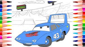 painting disney cars king dinoco coloring dinoco disney cars
