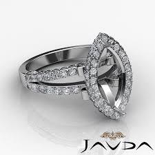 marquise diamond engagement rings halo setting diamond engagement marquise semi mount ring 18k white
