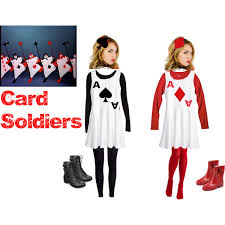 Halloween Costumes Card Soldiers Easy Diy Costume Clairebear235 Polyvore
