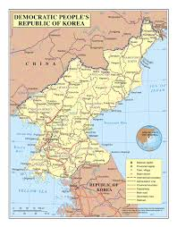 Korea Map Asia by Large Detailed Political And Administrative Map Of North Korea
