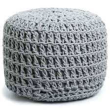 Crochet Ottoman Woven Pouf Ottoman Exports Crochet Knot Pouf Ottoman In