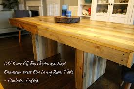 Elm Dining Table West Elm Emmerson Table Diy Knock Charleston Crafted