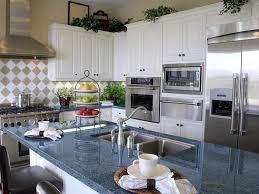 white blue kitchen blue granite countertops white cabinets blue pearl granite