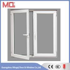 soundproof double tempered glass aluminum framed casement window