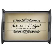 personalized serving trays platters serving trays food trays zazzle