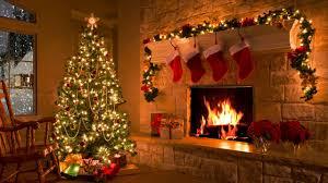 christmas scene christmas fireplace christmas tree u0026 snowfall