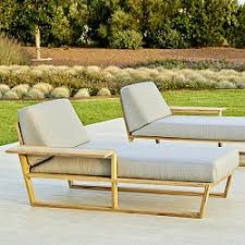 Teak Chaise Lounge Outdoor Chaise Pool Patio Lounge Lounger Modern
