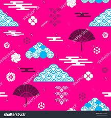 decorative seamless tribal pattern clouds waves stock vector