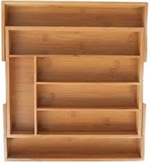 Wood Desk Drawer Organizer Amazon Com Kd Organizers 5 Slot Bamboo Drawer Organizer 13 5 X