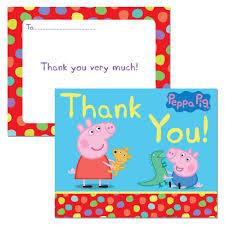 peppa pig thank you cards peppa pig games u0026 party supplies
