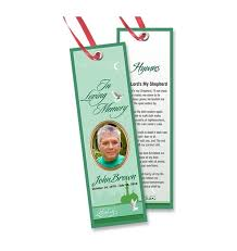memorial bookmarks memorial bookmarks religious muslim 0003 online funeral templates