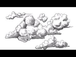 drawn clouds ink drawing pencil and in color drawn clouds ink