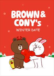 theme line winter brown cony s winter date line theme line store