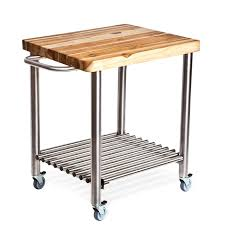 kitchen small stainless steel movable kitchen island with shelf