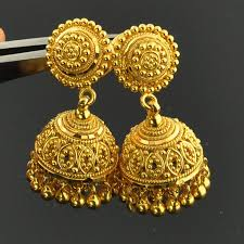 earrings gold 22k solid yellow gold post earrings with backs pair gold indian