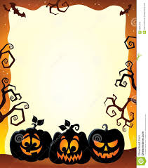 frame with halloween pumpkin silhouettes stock vector image