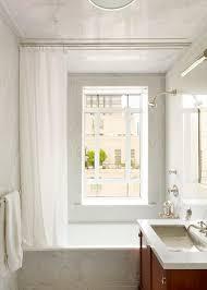 Curtain In Bathroom Loft Window Curtains Bathroom Traditional With White Bathroom