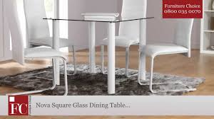 Square Glass Dining Table Nova Square Glass Dining Table White Youtube