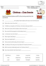 primaryleap co uk christmas cloze exercise worksheet holiday