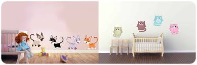 autocollant chambre bébé stickers bébés chats et chatons décoration murale adhésive pour