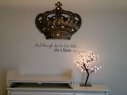 crown decor wall quote from wall quotes and crown from kirklands finally