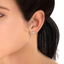 earing model 0 15 carat diamond stud earring in 18k white gold back