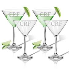 cocktail set personalized cocktail set of 4 glass