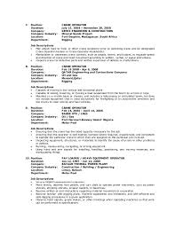 Resume For Computer Operator Job by Guila Resume Crane Operator