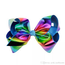 hair bow rainbow jojo bows grosgrain cheer leaders hair bows with