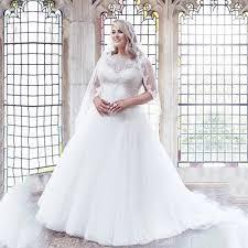 2016 elegant tulle plus size wedding dress white lace a line plus