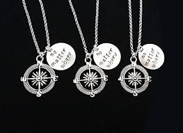 3 best friend necklaces three best friends no matter where charm