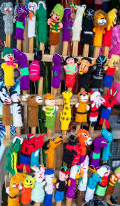 puppets for sale a variety of finger puppets for sale at the market in peguche