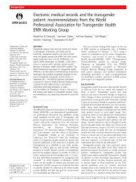 electronic medical records and the transgender patient